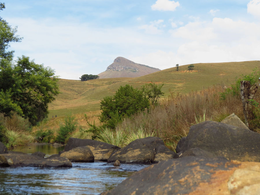 View of Inhlosane from the uMngeni river